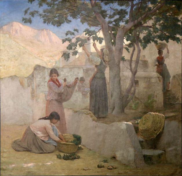 e-rosset-granger-huile-sur-toile-1887-la-cueillette-des-figues-a-capri-musee-granet-aix-en-provence-saf-1887