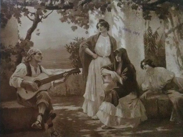 e-rosset-granger-huile-sur-toile-1888-le-joueur-de-guitare-a-capri