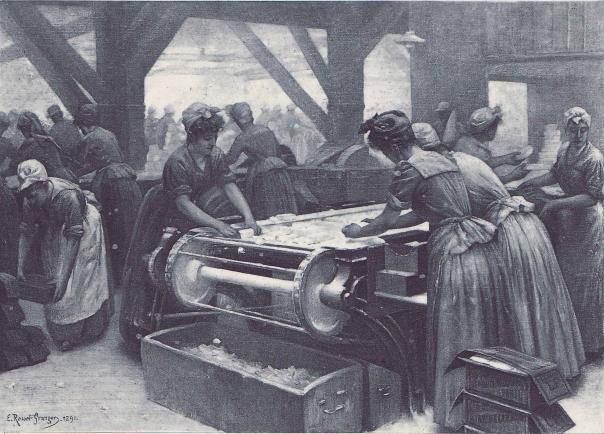 e-rosset-granger-huile-sur-toile-1891-a-la-raffinerie-de-sucre-beghin-la-casserie-snba-1891-n-819