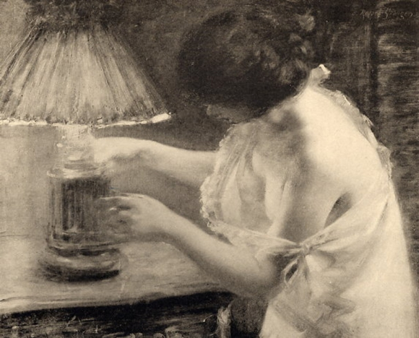 e-rosset-granger-huile-sur-toile-1907-au-crepuscule