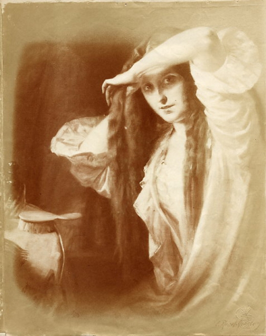 e-rosset-granger-huile-sur-toile-1907-femme-a-sa-toilette