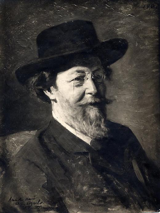 e-rosset-granger-huile-sur-toile-1907-portrait-du-peintre-alfred-pierre-agache-son-ami-1843-1915-salon-de-paris-1908