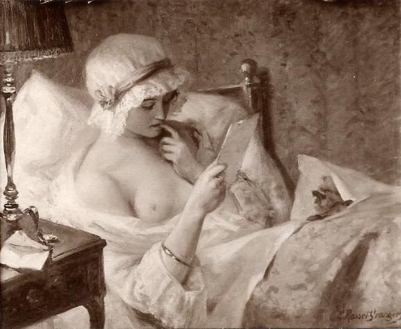e-rosset-granger-huile-sur-toile-1908-le-billet-doux-salon-de-la-ste-nationale-des-beaux-arts-de-paris-1909