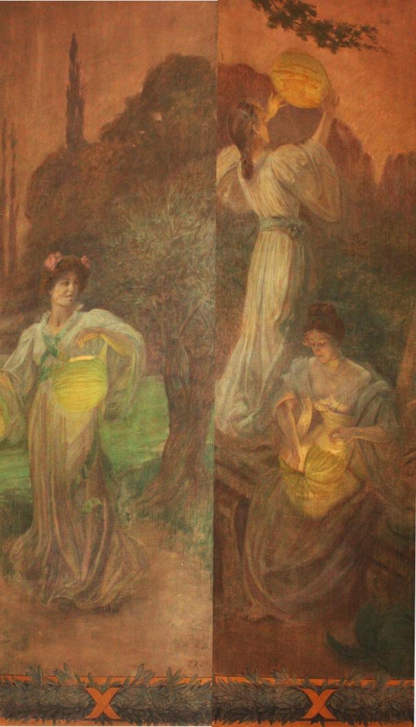 e-rosset-granger-huile-sur-toile-1909-mur-nord-escalier-mairie-de-st-mande-4-4980-x-1160-reunion-des-2-les-3-jeunes-femmes-aux-lampionx