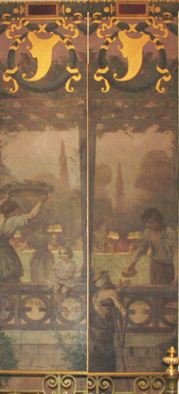 e-rosset-granger-huile-sur-toile-1909-mur-sud-escalier-mairie-de-st-mande-6-4980-x-1160-reunion-des-2-les-femme-enfant-mendiant-et-garcon