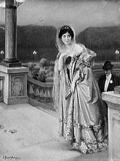 e-rosset-granger-huile-sur-toile-1910-larrivee-au-chateau-salon-de-la-ste-nationale-des-beaux-arts-de-1910