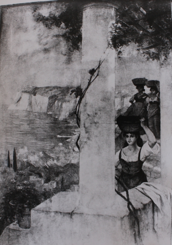 e-rosset-granger-huile-sur-toile-1918-3250-x-2250-jeune-napolitaine-portant-un-panier-de-fruits-hopital-broca-salle-recamier-a-paris