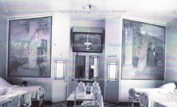 e-rosset-granger-huile-sur-toile-1918-3250-x-2250-panneaux-de-la-salle-recamier-de-lhopital-broca-a-paris