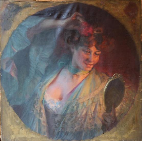 e-rosset-granger-huile-sur-toile-1929-655-x-655-femme-a-sa-toilette-snba-1929-n-1517-vente-par-guillaume-roy-antiquites-marche-dauphine-st-ouen-750-e-avril-2014
