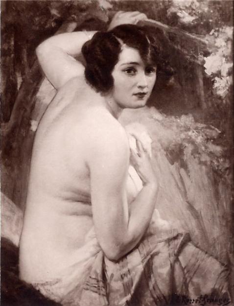 e-rosset-granger-huile-sur-toile-1930-etude-ou-nymphe-surprise-2eme-version-salon-de-la-ste-nationale-des-beaux-arts-de-paris-1930
