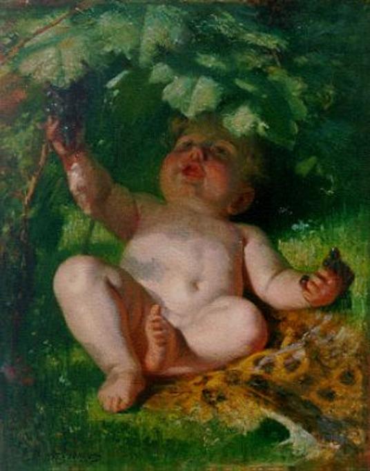 e-rosset-granger-huile-sur-toile-515-x-415-lenfant-aux-raisins-vendu-christies-london-12-06-97-550-dutch-art-gallery-simonis-and-buuk-ede-pays-bas