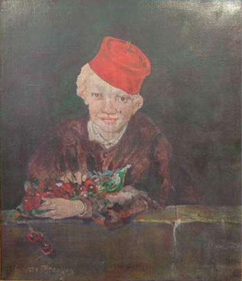 e-rosset-granger-huile-sur-toile-610-x-500-portrait-de-jeune-homme-au-bonnet-rouge-et-aux-cerises-dapres-manet-oeuvre-de-jeunesse-vente-geoffroy-et-bequet-royan-15-08-09-200-400-e