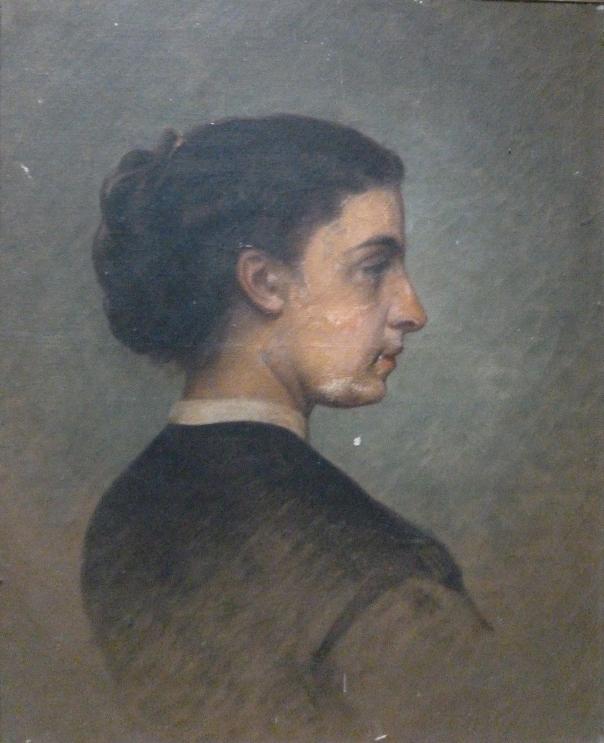 E.ROSSET-GRANGER Huile sur toile 620 x 515 (1) Copie du portrait de Mme Verde-Delisle peint par Pérignon en 1865. Vente Ebay 12.03.18