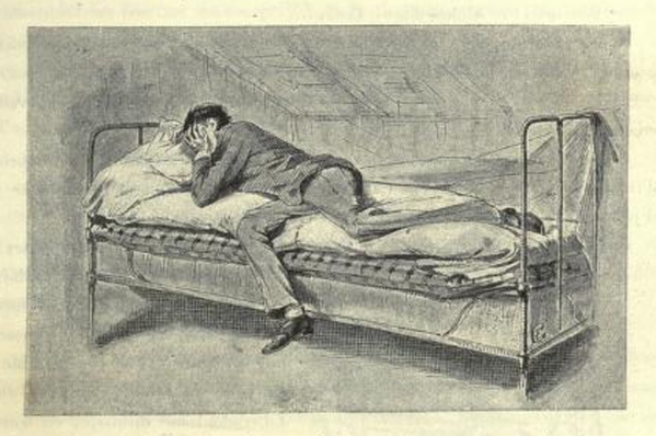e-rosset-granger-illustration-10-1886-le-docteur-modesto-10-saballos-allonge-sur-le-lit-page-81-revue-les-lettres-et-les-arts-oct-1886