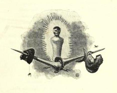 e-rosset-granger-illustration-10-1886-le-docteur-modesto-16-les-deux-porte-etendards-page-91-cul-de-lampe-final-revue-les-lettres-et-les-arts-oct-1886