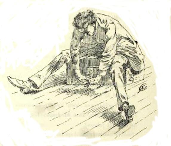 e-rosset-granger-illustration-10-1886-le-docteur-modesto-9-saballos-assis-sur-une-malle-page-78-revue-les-lettres-et-les-arts-oct-1886