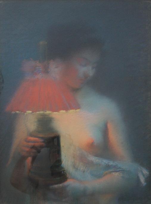 e-rosset-granger-pastel-1908-nu-a-la-lampe-a-petrole-590-x-450